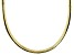 18K Yellow Gold Over Sterling Silver 5.5 MM Polished Omega Necklace 20 Inch