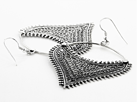 Sterling Silver Open Design Artisan Earrings
