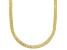 18K Yellow Gold Over Sterling Silver 3.60mm Greek Key Herringbone 18 Inch Chain