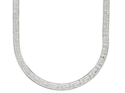 Sterling Silver 3.60MM Greek Key Herringbone Chain 20 Inch