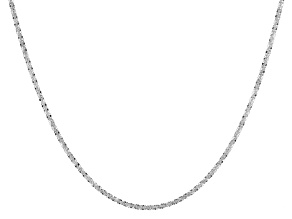 Sterling Silver Criss Cross Chain Adjustable Necklace