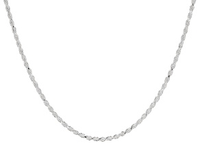 "Sterling Silver Rope 18"" Chain Necklace"