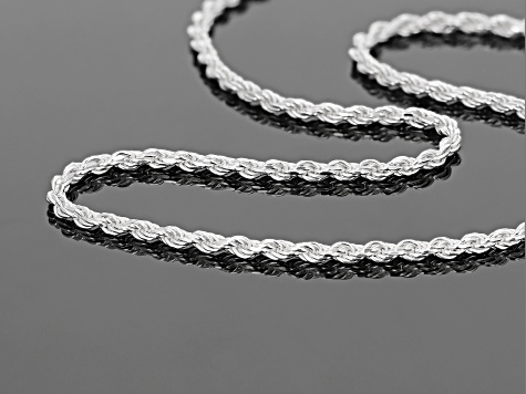 "Sterling Silver Rope 20"" Chain Necklace"