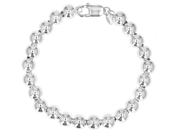 Picture of Sterling Silver 8MM Bead Bracelet
