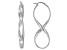 Sterling Silver Elongated Infinity Tube Earrings