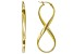 18K Yellow Gold Over Sterling Silver Elongated Infinity Tube Earrings