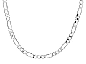 Sterling Silver 20 Inch Figaro Necklace