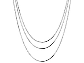 Sterling Silver 0.90MM Snake Chain Set of 3 18, 20, and 24 Inch