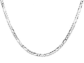 Sterling Silver 4.40MM Flat Figaro Chain 20 Inch Necklace