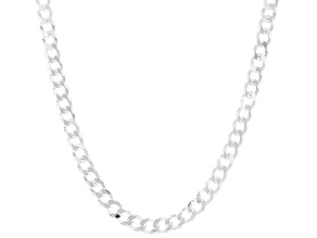 Sterling Silver 4MM Curb Chain 24 Inch Necklace