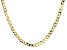 18K Yellow Gold Sterling Silver Diamond Cut 6 MM Flat Curb Chain 22 Inch Necklace