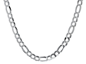 Sterling Silver Diamond-Cut 8.8MM Figaro 20 Inch Necklace