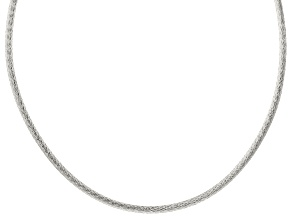 Sterling Silver 4.30MM Omega Chain 20 Inch Necklace