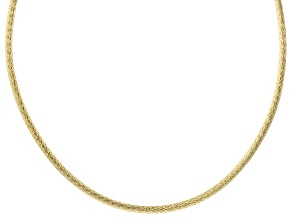 18K Yellow Gold Over Sterling Silver 4.30MM Reversible Omega Chain 20 Inch Necklace