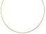 18K Yellow Gold Over Sterling Silver 2.17MM Reversible Omega Chain 20 Inch Necklace