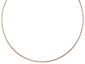 18K Rose Gold Over Sterling Silver 2.17MM Reversible Omega Chain 20 Inch Necklace