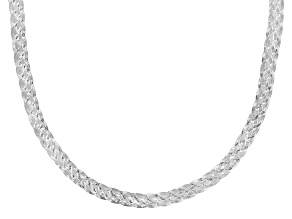 Sterling Silver 5.25MM Braided Herringbone Chain 20 Inch Necklace