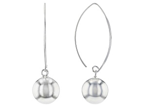Sterling Silver 12MM Bead Earrings