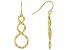 18K Yellow Gold Over Sterling Silver Infinity Teardrop Earrings