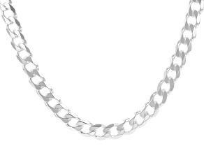 Sterling Silver Diamond-Cut 6.5MM Curb Chain