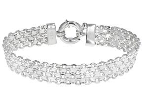 Sterling Silver 10MM Bismark Link Bracelet