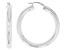 Sterling Silver 5x41MM Round Tube Hoop Earrings