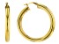 18k Yellow Gold Over Sterling Silver 5x41MM Round Tube Hoop Earrings