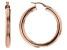 18k Rose Gold Over  Sterling Silver 5x41MM Round Tube Hoop Earrings