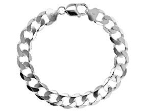 Sterling Silver 10.8MM Curb Link Bracelet
