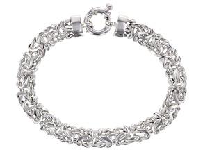 Sterling Silver 7MM Byzantine Link Bracelet