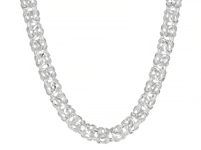 Sterling Silver 7MM Byzantine Chain