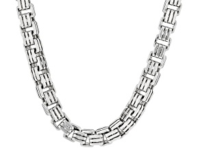 Rhodium Over Sterling Silver 4.6MM Box Chain
