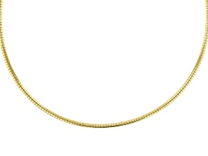 18K Yellow Gold Over Sterling Silver 3MM Omega Chain