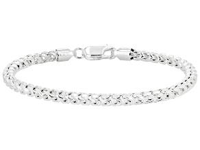Sterling Silver 4MM Franco Link Bracelet