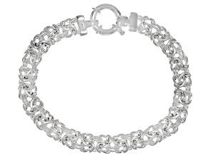 Sterling Silver 8.6MM Byzantine Link Bracelet