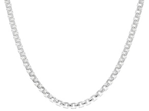 Sterling Silver 3.5MM Round Box Chain