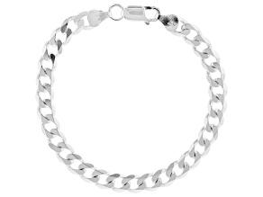 Sterling Silver Diamond-Cut Curb Link Bracelet