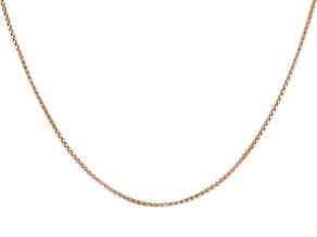 18K Rose Gold Over Sterling Silver Diamond-Cut Adjustable Popcorn Chain