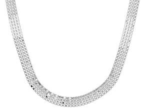 Sterling Silver Diamond-Cut Multi-Row Box Chain