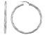 Sterling Silver 4X50MM Twisted Tube Hoop Earrings