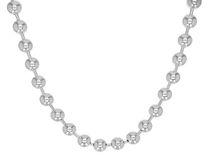Sterling Silver 4MM Ball 18 Inch Chain