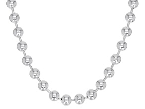 Sterling Silver 4MM Ball 20 Inch Chain