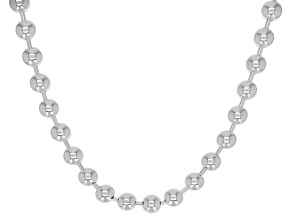 Sterling Silver 4MM Ball 22 Inch Chain