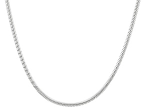 Sterling Silver Round Snake 24 Inch Chain