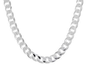 Sterling Silver 4MM Diamond-Cut Curb 20 Inch Chain