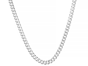 Sterling Silver 6MM Cuban 22 Inch Chain