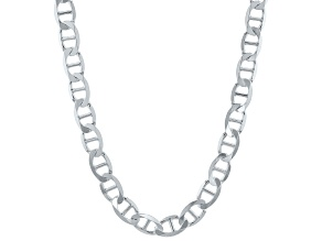 Sterling Silver 9MM Flat Mariner Chain