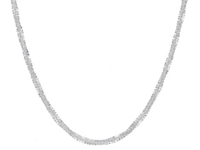 Sterling Silver Adjustable Diamond-Cut 1.4MM Rope Chain