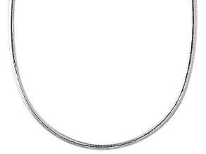 Sterling Silver 4MM Omega 18 Inch Chain