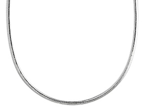 Sterling Silver 4MM Omega 20 Inch Chain